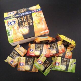【未使用】花王/炭酸力のバブ 至福の柑橘めぐり浴_4種×3ヶ 12錠