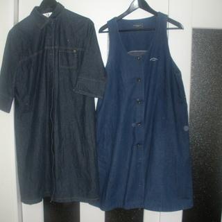 デニム: マタニティワンピース・ジャンバースカート 2種 中古
