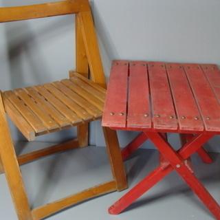 ☆★oh 折りたたみテーブル・椅子セット 木製 アウトドア ガー...