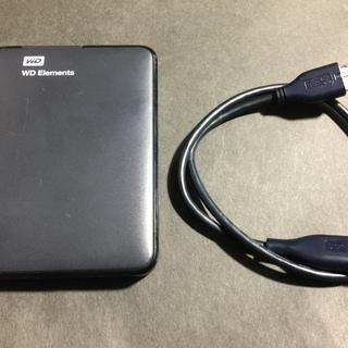 使用期間数ヶ月 ポータブルHDD1TB WD Elements(...