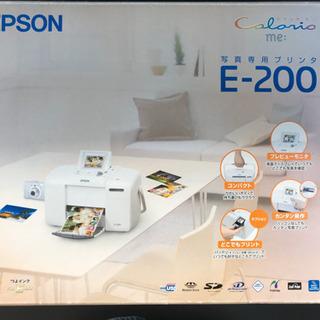 エプソン カラリオミー 写真印刷 E-200