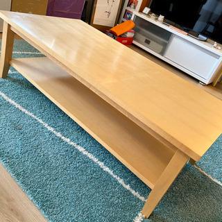 リビング テーブル 棚付き シンプル北欧風木製 おしゃれ 高級感