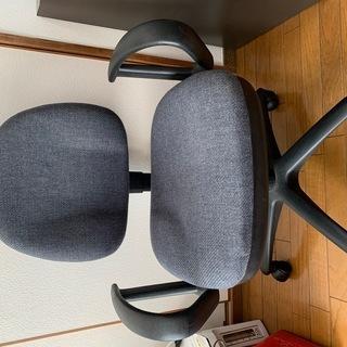 デスク用 両ひじ椅子(チェア)紺色