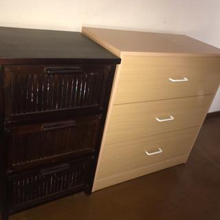 引っ越しに伴い バンブー棚 チェスト TV台 難ありテーブル