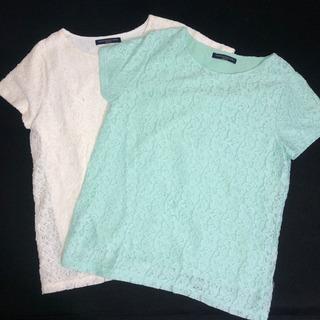 白と水色の夏用の服2枚セット