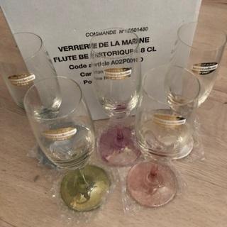 新品 シャンパングラス 5個セット フルートグラス