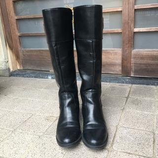 トミーのブーツ 黒 24.5センチ