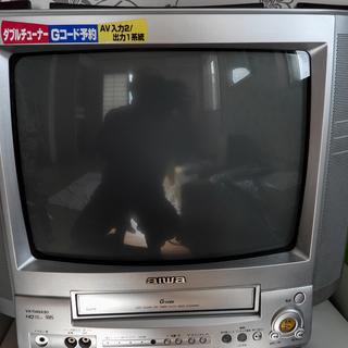 アイワ ビデオ一体型テレビ  VX-T14GX30B2 - 家電