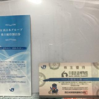 値下げしました。京都鉄道博物館 入館割引券  JR西日本株主優待割引券