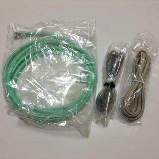 【新品】LANケーブル&電話ケーブル 3本セット
