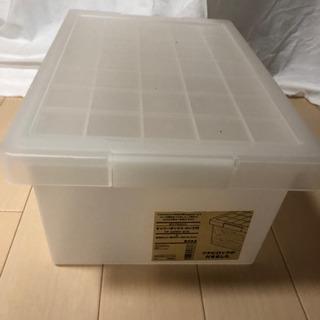 収納BOX【キャリ-ボックスロック付き小】無印良品