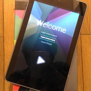 新品 タブレット nexus7 3g+wifi データ通信可能モデル