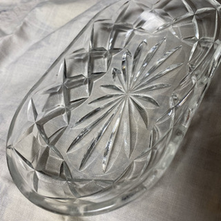 昭和レトロな楕円の硝子皿 1客
