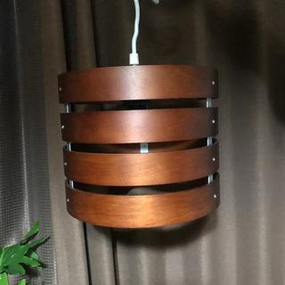ウッド製◆円形リングペンダントライト◆