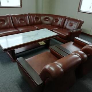 カリモク  オフィスソファー 机セット