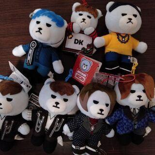 BIGBANGのクマのマスコットぬいぐるみ7個セット