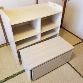 [収納できる] 座卓学習机 ミニデスク