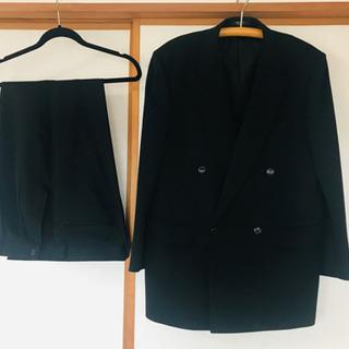 メンズ スーツジャケット 礼服ダブル☆フォーマルカシミア☆アジャスター