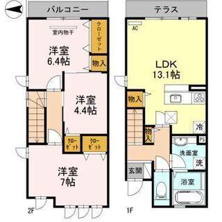 ★阪和線 三国ヶ丘駅 徒歩7分 駐車場1台無料★3LDK (^^♪