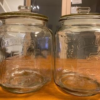 ガラス保存瓶 2個、差し上げます!