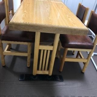 ダイニングテーブルセット ダイニングセット 椅子4脚 茶色 和風...