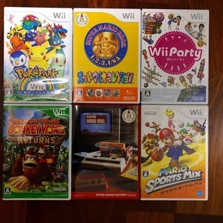 任天堂 Wiiソフト5本+スーパーマリオヒストリー(サントラCD)