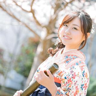卒業式の袴・ヘアセット 小学生~大学生まで袴着付け承ります