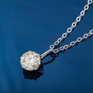 K18WG ダイヤモンド プチネックレス 品番7-181