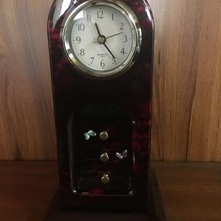 (値下げ)時計 置時計 フック 引出し 貝