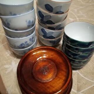 湯呑み5客×3種類 茶托5客
