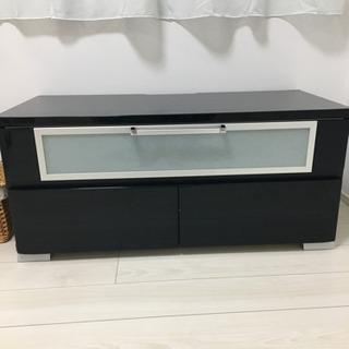 テレビボード 黒 鏡面 ブラック