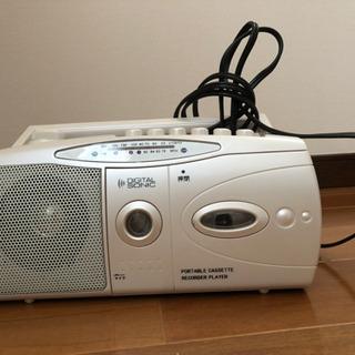 AM/FMラジオカセットレコーダー