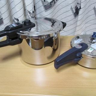 圧力鍋 SEB/6L + ドウシシャ/2L 2点セット 美品