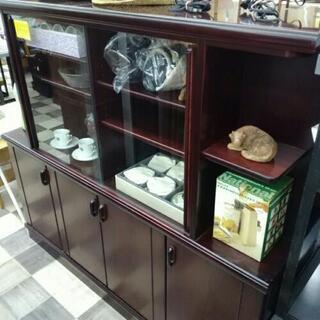 値下げしました✨食器棚、飾り棚 両開き