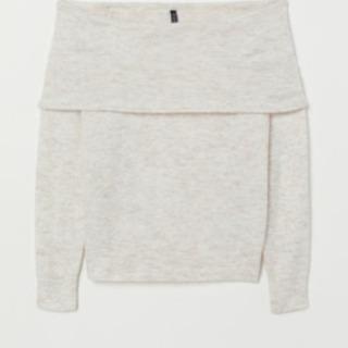 新品 H&M Mサイズ オフショルダーセーター