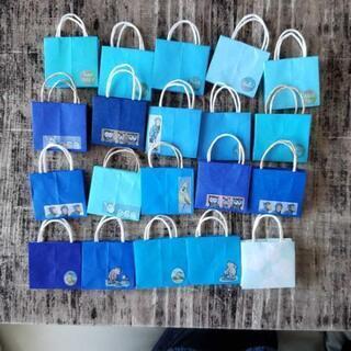 ハンドメイド ミニ 紙袋 ブルー