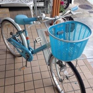自転車 女児 22インチ 水色