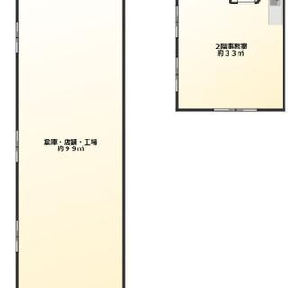 大通り沿い事務所付き倉庫作業所♫倉庫内に駐車5台前後可能♫早い物...