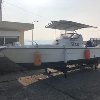 ヤンマー、21フィート スズキ70馬力  船 鹿児島 船舶 係留