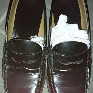 HARUTA*ハルタ 革靴  25.5 ローファー 黒 ノーヒール
