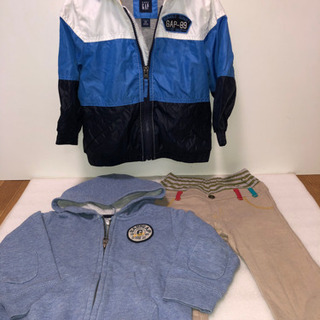 フード付きジャンパー×2枚+パンツ 冬物ボーイズ 90-9…