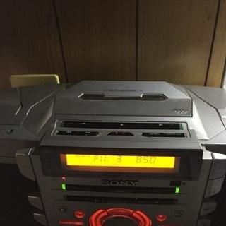 ZS-D55: CDラジカセ  ×CD カセット チューナー 外部入力アンプスピーカーがわり − 山梨県