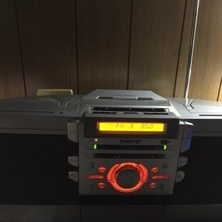 ZS-D55: CDラジカセ  ×CD カセット チューナー 外部入力アンプスピーカーがわり - 売ります・あげます