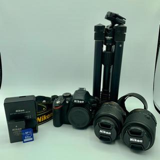 値下げ ニコン D3200 Nikkor 55-200mm ve...