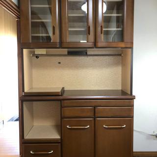 キッチン棚 キッチンボード 茶色 木 食器棚
