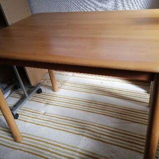 木製テーブル ダイニング/PC 用