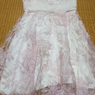 ピンク花 ドレス