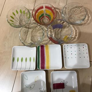 【お話中】デザート グラス 銘々皿 プレート