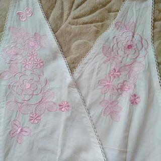 HANAE  MORI  フラワー刺繍エプロン🎽未使用 - その他