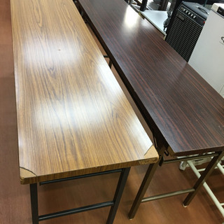 会議用 長机 テーブル 折りたたみ机 4脚 1脚@¥2000-